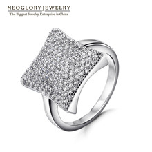 Neoglory кольца Геометрический стиль для женщин новые подарки на день рождения модные ювелирные изделия