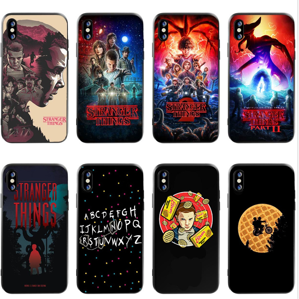 Buy Friends Don't lie  Stranger Things Black silicone Phone Case Cover For iPhone 5 5s SE 6 6SPlus 7 7Plus 8 8 Plus X XS MAX XR for only 1.39 USD