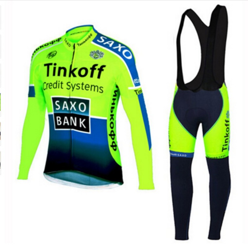 2016 Autumn breathable pro team tinkoff cycling jerseys long sleeve quick dry cloth MTB Ropa Ciclismo Bicycle maillot GEL ckahsbi winter long sleeve men uv protect cycling jerseys suit mountain bike quick dry breathable riding pants new clothing sets