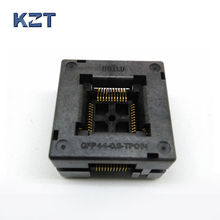 TQFP44 FQFP44 QFP44 to DIP44 Burn in Socket OTQ-44-0.8-14 Pitch 0.8mm IC Body Size 10x10mm Open Top Test Adapter цена