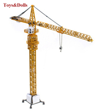 Toys for children 1/50 Scale Diecast Tower Slewing Crane Construction Truck Vehicle Miniature Diecast Metal Car Models brinquedo