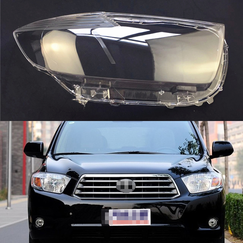 For Toyota Highlander 2007 2008 2009 2010 2011 Transparent Car Headlight Headlamp Clear Lens Front Auto