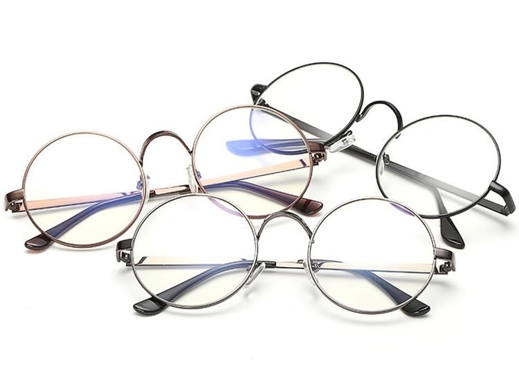 Стиль восстановление древних способов Круглые Солнцезащитные очки женские Ретро металлический каркас очки прозрачные линзы очки женский ...