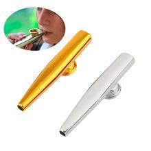 Алюминиевый сплав рот флейта губная гармоника Дети подарок партии малыш музыкальный инструмент металлический казу диафрагма для флейты