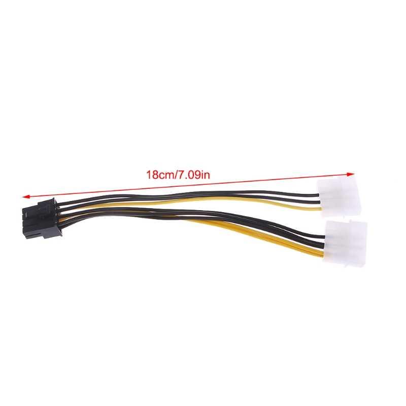 2x 4-Pin Molex LP4 8-Pin PCI Express ekran Kartı ATX PSU Güç Adaptör Kablosu l059 Yeni sıcak
