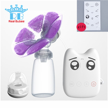 BPA Free Automatic Massage Electric Breast Pump with Cold Heat Pad Nipple milk suckers Feeding Breast Pump