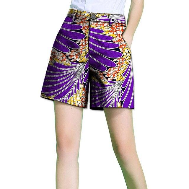 Fashion Summer African Women Short Pants African Print Clothing Dashiki Clothes  Batik For Lady Casual shorts be4b52aa1e