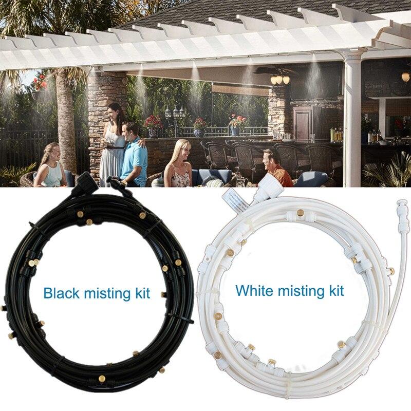 Weiß oder Schwarz Bewässerung Spray Düse Wasser Sprinkler Multi-Funktion 6 mt 6 Sprinkler Beschlagen Kühlung Befeuchtung