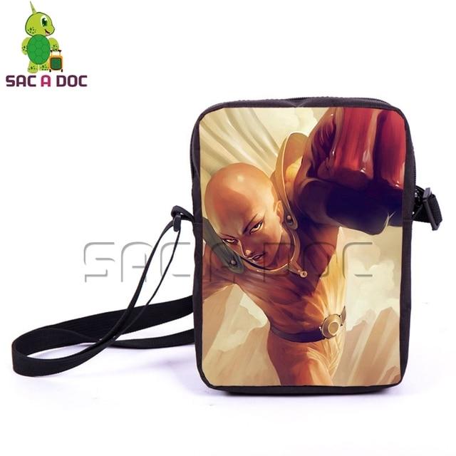 Anime One Punch Man Shoulder Bag Boys Girls Mini Messenger Bag Children School  Bags Cool Saitama 7b683e643c