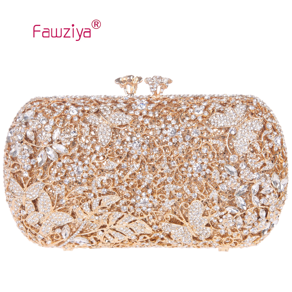 Fawziya Famous Brand Bag Floret Kiss Lock Butterfly Clutch Chain Purse Crystal Clutch Evening Bag лоферы allora allora mp002xw1ap35