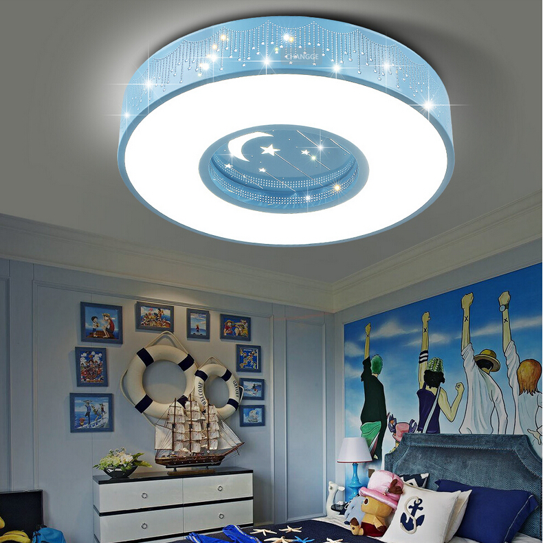 24W LED ceiling lamp AC85-265V modern creative arts star moon children's room Round ceiling Lights bedroom decoration lights nordic japanese creative clouds led ceiling lamp wooden 24w child baby room lights ceiling lamps bedroom decoration lights 220v