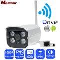 IPC Беспроводная Ip-камера wi-fi Full HD 1080 P Веб-Камера Видеонаблюдения Cam с Карта Micro Sd Слот Металла Дом IP66 Открытый Водонепроницаемый