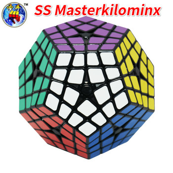 Shengshou 4x4 Megamin Master Kilominx Black Speed Cube Cubo Magic Educational Toy Drop Shipping image