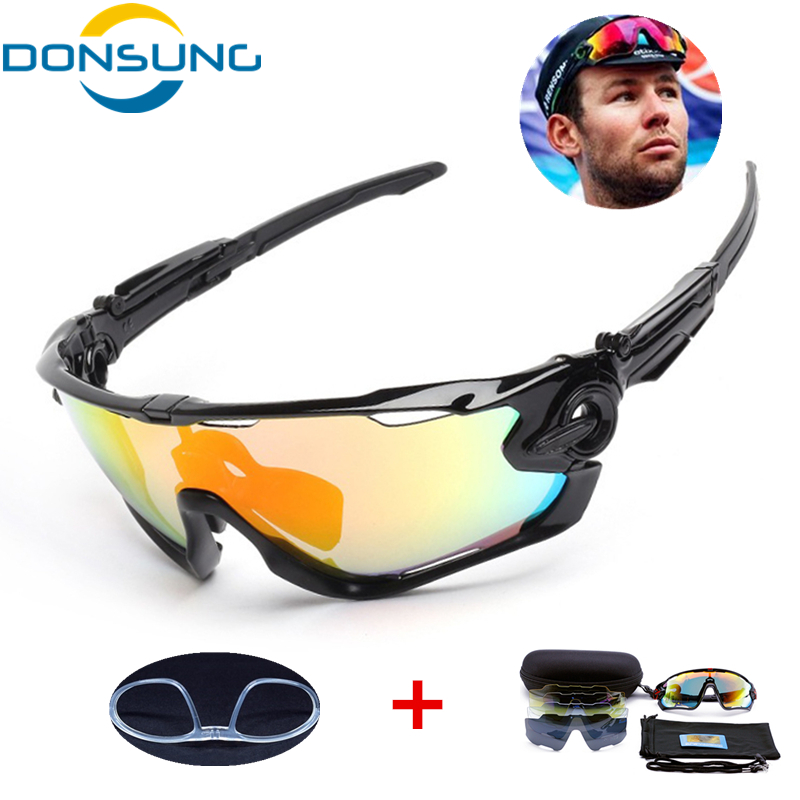 5 Lens Polarized Cycling Glasses Jaw Sport Cycling Sunglasses Men UV400 Breaker MTB Cycling Eyewear Bike Bicycle Goggles