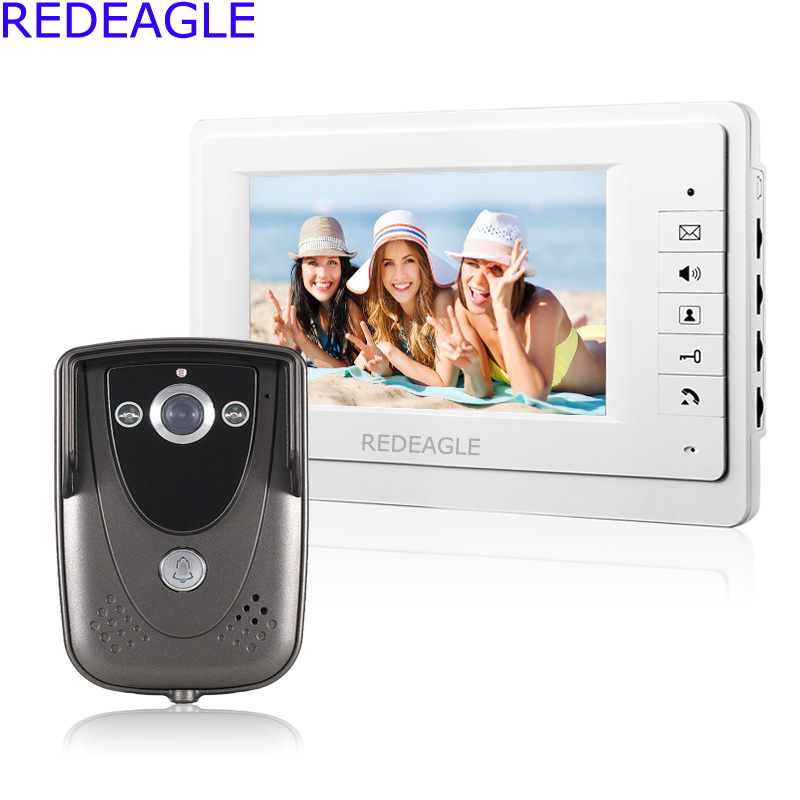 7 inch Wired Video Door Phone Doorbell Intercom Night Vision Home Security IR Camera jeatone 7 inch video door phone doorbell intercom with 600tvl outdoor camera ip65 on door video intercom security system 4 wired