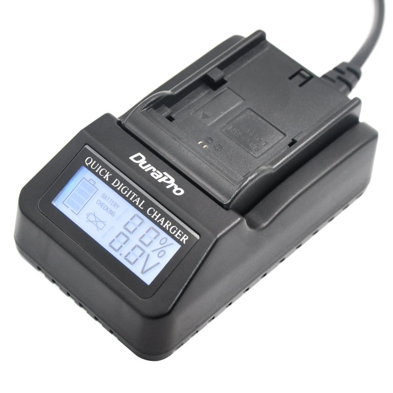 DuraPro LP E6 LPE6 LP E6 LCD Super Quick font b Charger b font for Canon