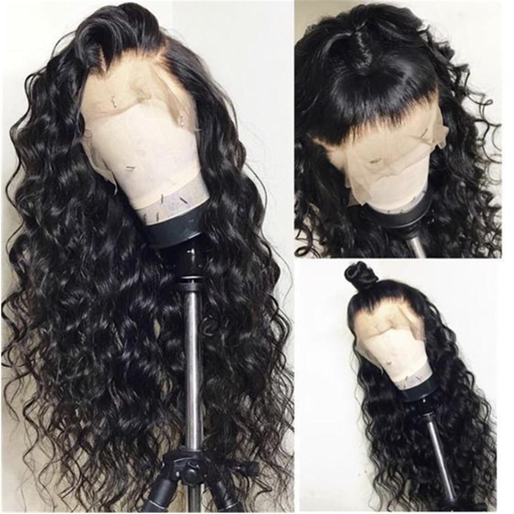 Глубокая волна кружева фронтальной парики бразильского Волосы remy 360 Кружева Фронтальная парики с волосами младенца плотность 130% натуральн...