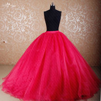 RS281 Custom Made DIY Seperate Organza Skirt Used For Ball Gown Dress Hot Pink Quinceanera Dresses