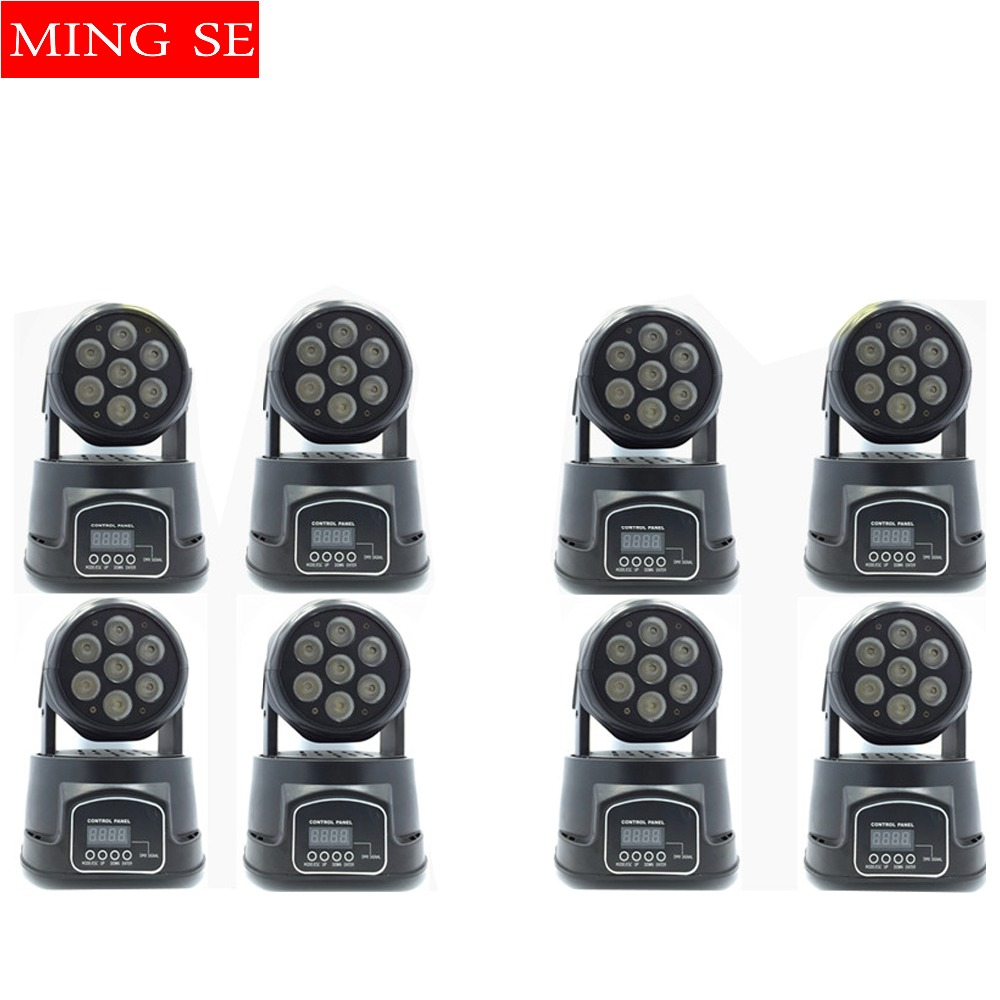 Fast shipping 8pcs/lots CREE 7x12W RGBW quad mini led wash moving head light LED stage lights Mini LED Moving Head 14 channels free shipping vga hdmi edp lcd controller board hdmi edp for 15 6 inch b156xw04 v8 b156xw04 v7 edp 30 pins 1 lane 1366x768 wled
