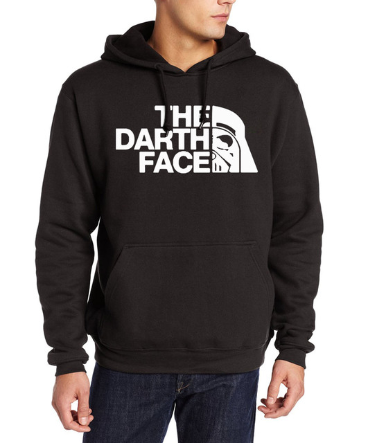 2017 star war fashion the darth face print hooded men hip-hop funny brand suits autumn winter fleece sweatshirt harajuku hoodies