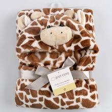 2019 Baby Wrap Soft Envelope Blankets Newborn Swaddle Infant Sleeping Bag Warm Bedding Cartoon Short Plush