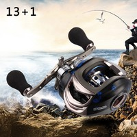 China 13+1 Ball Bearings Baitcasting Reel Fly High Speed Fishing Reel with Magnetic Brake System for Pesca