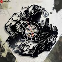 Home Living Batman Vinyl Record 12 inch Wall   Clock   Modern Design Joker Sticker Decorative Quartz Time   Clock