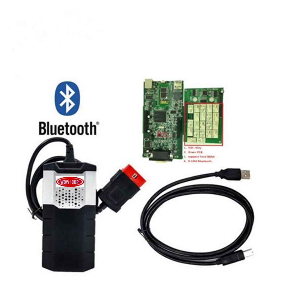 US $29 25 10% OFF|2018 PCB V3 0 vd tcs cdp pro plus 2015 3 R3 keygen wow  cdp new vci 2016R0 delphis VD DS150E CDP for bluetooth Auto scanner tool-in