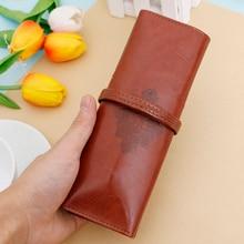 Многофункциональный чехол из искусственной кожи в стиле ретро, сумка для карандашей, школьные принадлежности, косметичка для макияжа, сумочка для ручек, подарок для детей