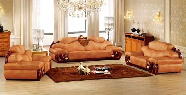 European Leather Sofa Set Living Room Sofa Made In China