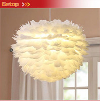 ZYY Creative White Feather Simple Pendant Light Artistical Lamp for Living Room Dining Room Bedroom Modern Led bulbs