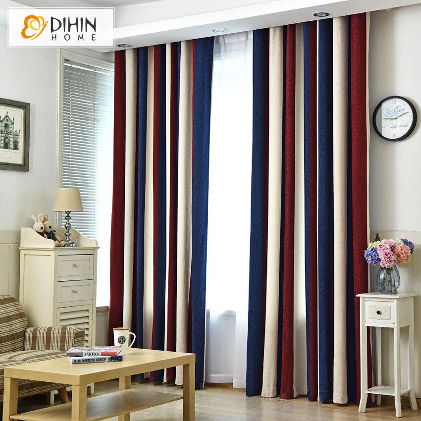 dihin casa moderna de rayas opacas cortinas para la sala de tela gruesa colores cortina