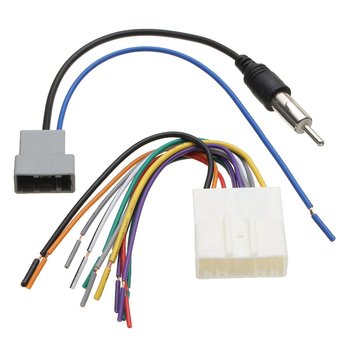 hight resolution of car dvd radio install stereo audio wiring harness cable plugs antenna adapter for nissan 2009