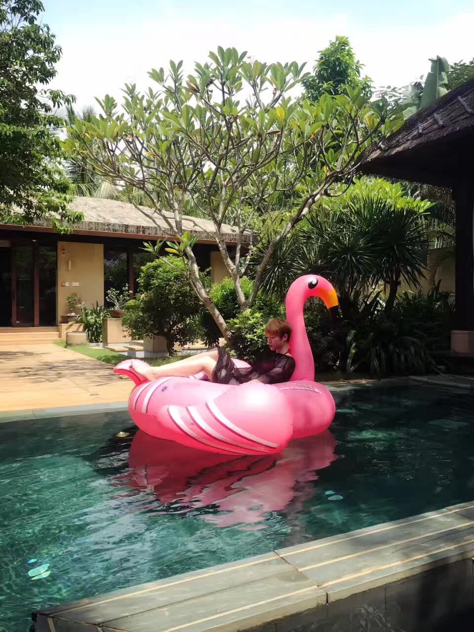 Inflatable Flamingo Giant Pool Float unicorn 60 Inch 1.5m Swan Summer Swimming Ring Flamingo Pool Float toys for Adults environmentally friendly pvc inflatable shell water floating row of a variety of swimming pearl shell swimming ring