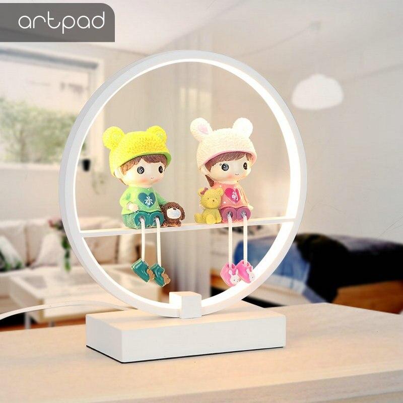Télécommande nordique lampe de table LED chambre lecture bureau lumière mariage lampe de chevet avec interrupteur US/EU prise éclairage domestique