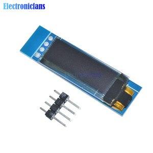 "Image 5 - 10 adet 0.91 inç 128x32 IIC I2C mavi OLED lcd ekran DIY modülü 0.91 ""SSD1306 sürücü IC modülü arduino PIC DC 3.3V 5V"