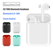 i12 TWS Mini Bluetooth Headset Wireless Headphones Bluetooth Earphone Sport Noise Cancelling True Wireless Earbuds With MIC qcy mini bluetooth 4 1 headset wireless sport bluetooth earphone with mic noise cancelling original english voice earbuds