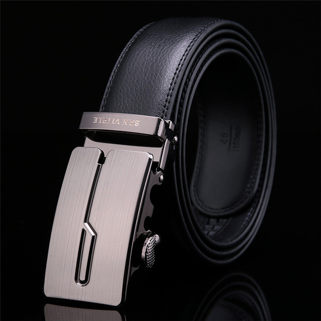 Men's High Quality Automatic Buckle Leather Belt