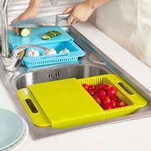 BF040 The kitchen sink chopping board Basket wash dish drop cut with one tank Chopping block 36.5*:23*:4.5cm
