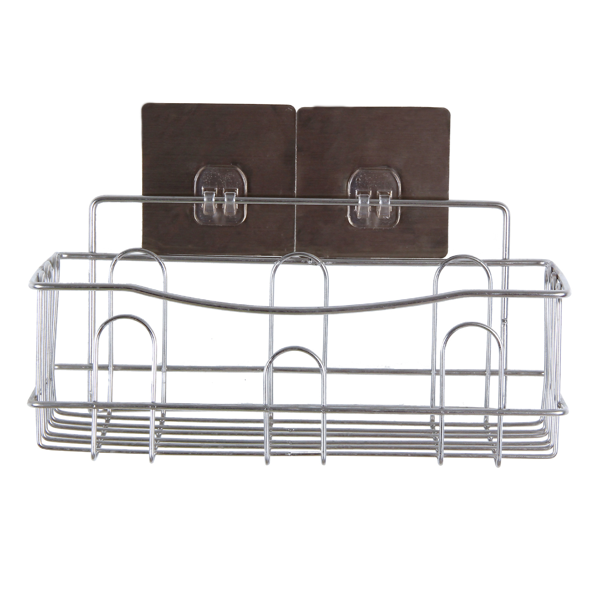 Image 5 - Cross border Dedicated For Punch free Wall Hanging Bathroom Shelf Stainless Steel Single layer Rack Kitchen Storage-in Bathroom Accessories Sets from Home & Garden