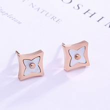Fashion jewelry, rose gold , titanium steel earrings accessories wholesale, allergy free earrings