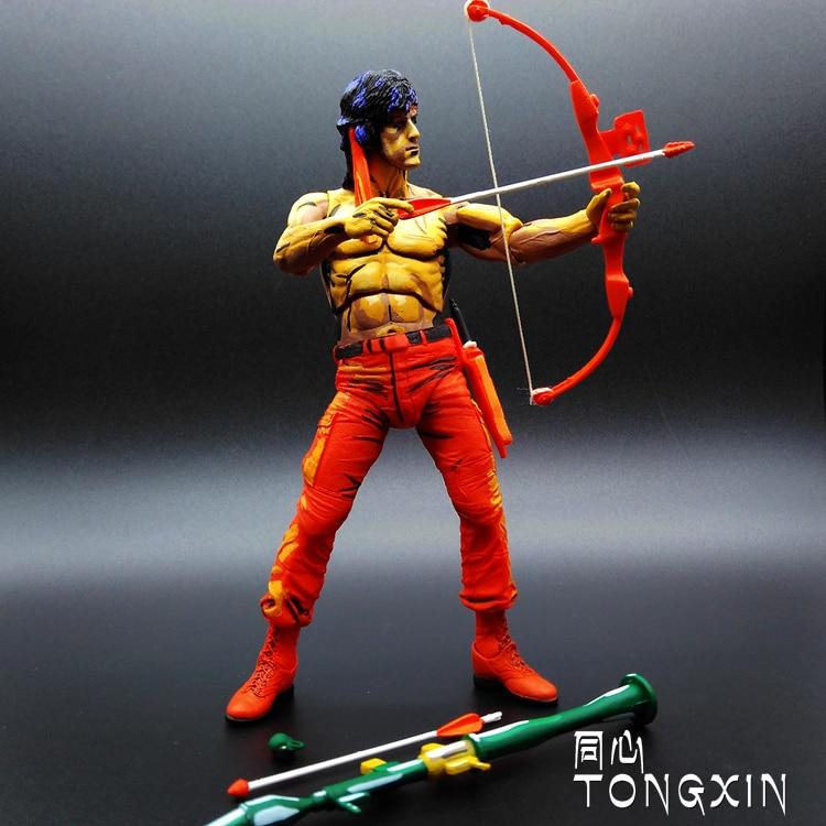 SAINTGI First Blood 1  Rambo movie gun Anime Sylvester Stallone Figurine PVC Action Figure Model Toy 16cm hot sale neca classic movie boxer rocky sylvester stallone with us national flag 18cm action figure toys new box