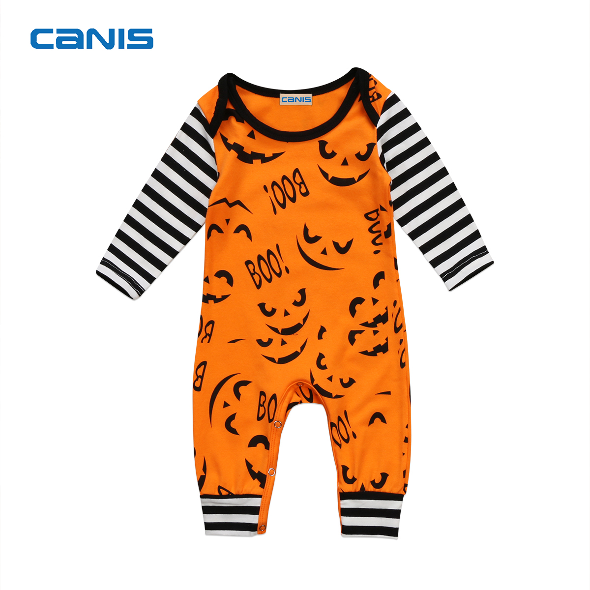 NEW Toddler Baby Boys Girls Clothes Long Sleeve Striped Romper Yellow Jumpsuit Playsuit Summer one-piece Halloween outfit 0-3Y 2016 hot selling baby kids girls one piece sleeveless heart dots bib playsuit jumpsuit t shirt pants outfit clothes 2 7y