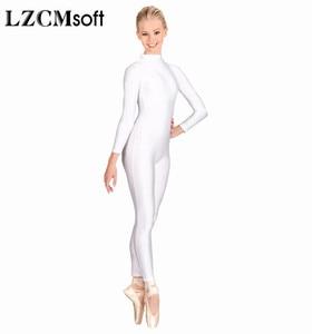 Image 3 - LZCMsoft Body pour femme, combinaison de Ballet à manches longues en Lycra, Spandex, costume de danse, costume de Ballet