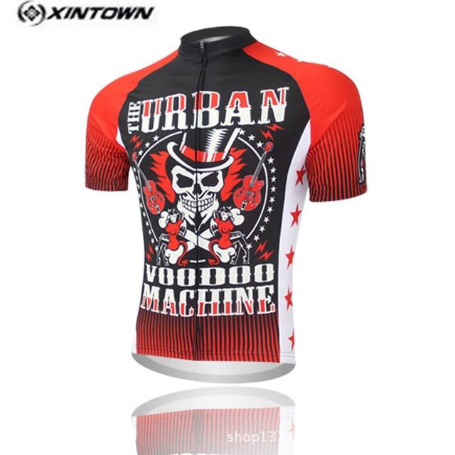 2017 rojo negro diablo luz ropa deportiva equipo Ciclismo ropa Ciclismo  jersey manga corta Ciclismo ropa 5fa86a04add4e