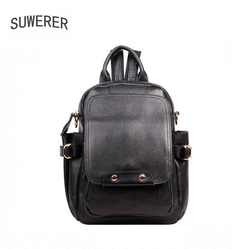 Echtem Tasche Mode Taschen Frauen Rucksack Black Designer Luxus Leder Suwerer Neue 7qnwx5qB