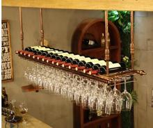 Wine glass rack hanging upside down household European wine bar wine rack display creative goblet rack hanging type wine glass r недорого