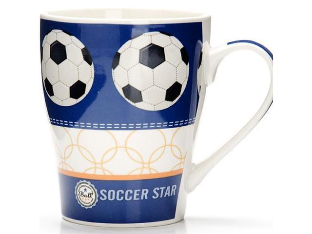 Кружка LORAINE, Футбол, Soccer Star, 340 мл, синий
