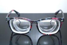 Lentes ópticas para Mujer, Monturas De Gafas para Gafas De Monturas para montura grande, flor, mióptero alto, 16d, Pd64