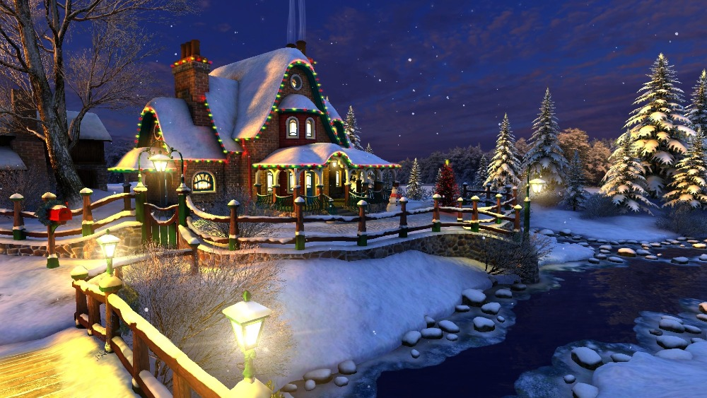 Snow Village 3d Live Wallpaper And Screensaver Popular Paintings Winter Buy Cheap Paintings Winter Lots